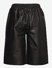 Just Female - Paso leather bermuda - leather shorts - black - 2