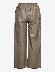Just Female - Roy leather trousers - skinnbyxor - grey - 1