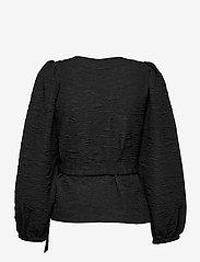 Just Female - Toda wrap blouse - long sleeved blouses - black - 2