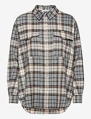 Just Female - Pisa Shirt - clothing - stone check - 1