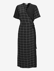 Just Female - Halle maxi wrap dress - everyday dresses - half check aop - 1