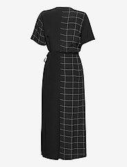 Just Female - Halle maxi wrap dress - everyday dresses - half check aop - 2