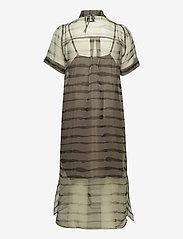 Just Female - Moca polo dress - midi dresses - uneaven lines aop - 2