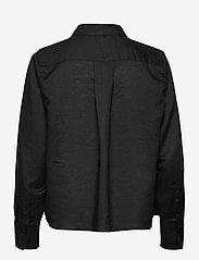 Just Female - Collin shirt - long-sleeved shirts - black - 1