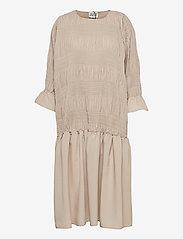 Just Female - Etienne dress - midi dresses - cobblestone - 1