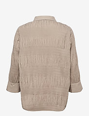 Just Female - Etienne shirt - long-sleeved shirts - cobblestone - 2