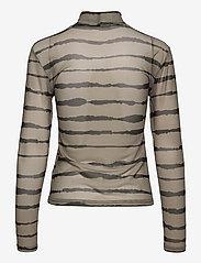Just Female - Houston turtleneck - long-sleeved tops - uneaven lines aop - 2