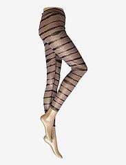 Just Female - Houston leggings - leggings - uneaven lines aop - 2