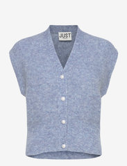 Just Female - Girona knit vest - knitted vests - blue - 1