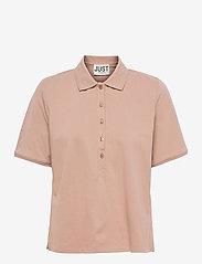 Just Female - Santo polo shirt - polo shirts - pine bark - 1