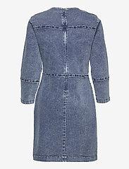 Just Female - Glacier denim dress - bodycon dresses - blue snow - 2