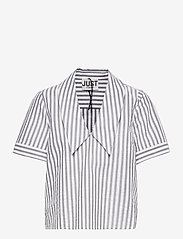 Just Female - Rialto blouse - short-sleeved blouses - pavement stripe - 1