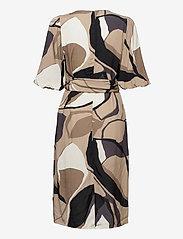 Just Female - Fontana wrap dress - summer dresses - illustrated flowers - 2