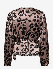 Just Female - Laguna blouse - long sleeved blouses - leopard - 2