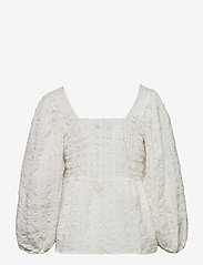 Just Female - Soffia blouse - long sleeved blouses - white - 2