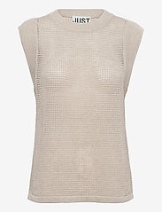 Just Female - Omaha knit top - knitted vests - off white - 1