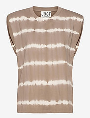 Just Female - Beijing top tiedye - t-shirt & tops - taupe - 1