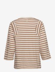 Just Female - Never tee - t-shirt & tops - buttercream stripe - 1