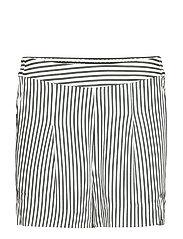 Beach shorts - GREEN WHITE STRIPE