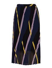 Moe pleated skirt - DIAGONAL AOP