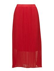 Moe pleated skirt - RIBBON RED
