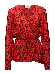 Ellen blouse - Satori red aop
