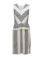 Rita dress - Light stripe aop