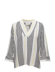 Rita blouse - Light stripe aop