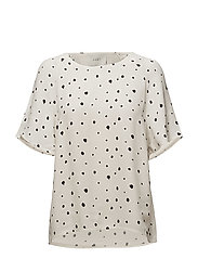 Laura tee - Dot splash aop