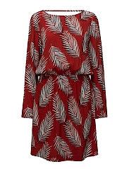 Leaf dress - Leaf red aop