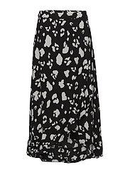 Amanda maxi skirt - BLACK LEO AOP