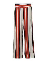 Emilia trousers - STRIPE AOP