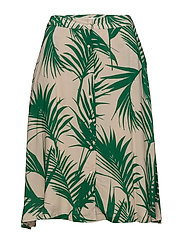 Julita skirt - TROPIC LEAF GREEN AOP
