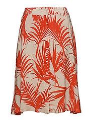 Julita skirt - TROPIC LEAF RED