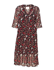 Antonin dress - CORN FLOWER RED