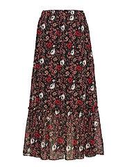 Antonin maxi skirt - CORN FLOWER RED AOP