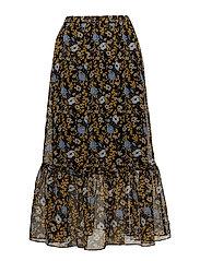 Antonin maxi skirt - CORN FLOWER YELLOW AOP