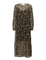 Antonin maxi dress - CORN FLOWER YELLOW AOP