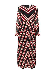 Coline maxi dress - RED STRIPE