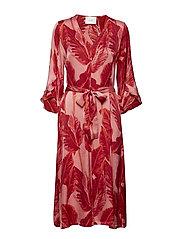 Laurie dress - LEAVES AOP