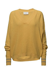 Remark v neck knit - SPECTRA YELLOW