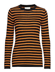 Evan blouse - ORANGE STRIPE