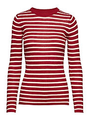 Evan blouse - RED ROSE STRIPE