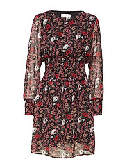 Antonin ls dress - CORN FLOWER RED