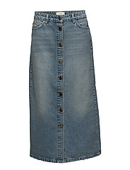 Wall denim skirt - LIGHT BLUE DENIM