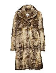 Enzo fake fur coat - NATURE FOX