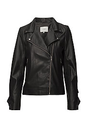 Victor leather jacket - BLACK