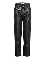 Sago leather trousers - BLACK