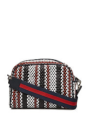 Dylan braided bag - RED BLUE STRIPE