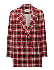 Holmes check blazer - RED CHECK